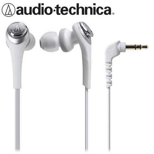 audio-technica 鐵三角 CKS550 重低音密閉型耳塞式耳機 白