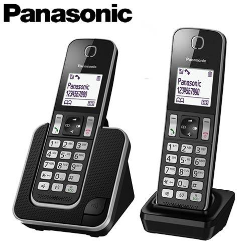 Panasonic 國際牌 數位中文雙手機無線電話 KX-TGD312TW 黑