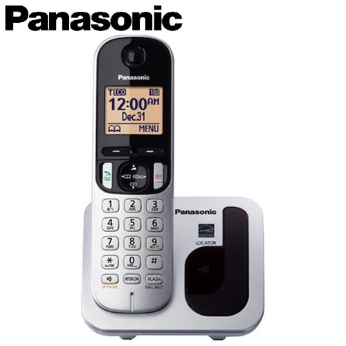 Panasonic 國際牌 數位無線電話 KX-TGC210TW 銀