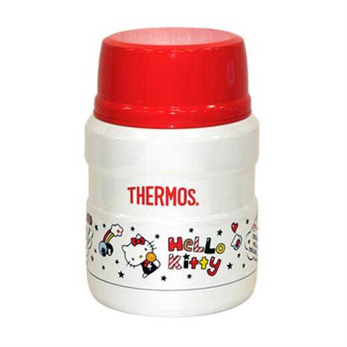 THERMOS膳魔師0.47L不鏽鋼真空保溫食物罐(KITTY限定版) SK3000KT