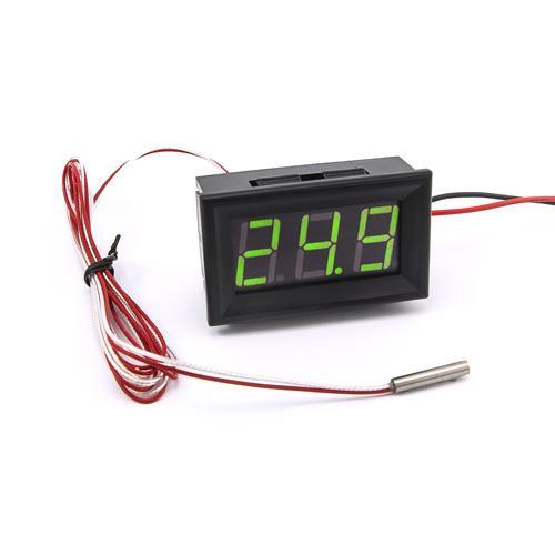 防水型0.56三位元 LED溫度錶頭/PT100(黑殼綠光)