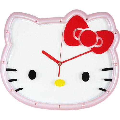 Hello Kitty 光控整點音樂LED掛鐘 JM-W580KT