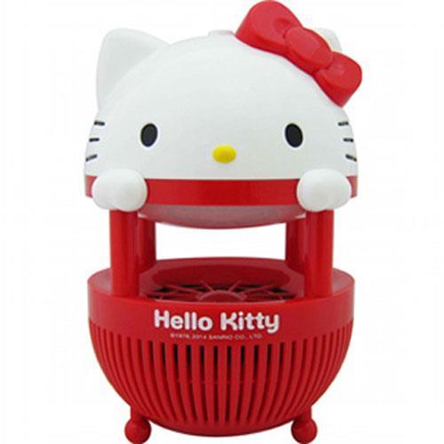 【網購獨享優惠】HELLO KITTY紫外線防護燈罩光觸媒捕蚊器(紅)