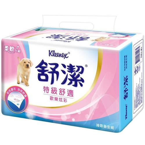 【量販組】舒潔 歡樂炫彩抽取衛生紙110抽 (32包)