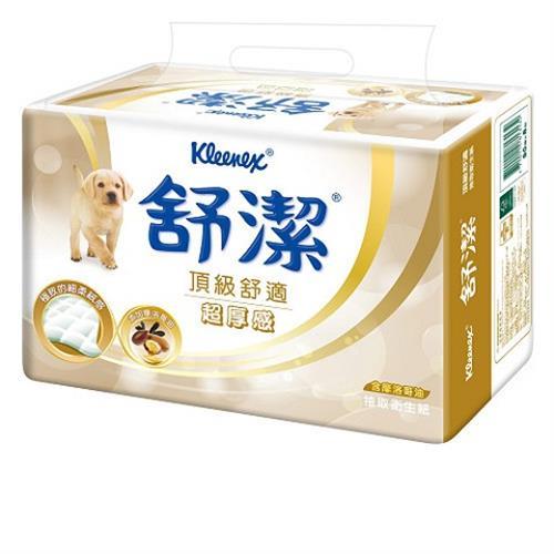 【量販組】舒潔 頂級舒適超厚感抽取衛生紙90抽(8包x8串) / 箱