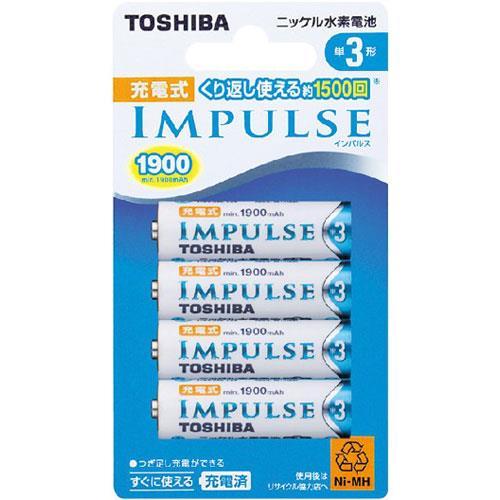 TOSHIBA東芝 3號1900mah充電電池 4入