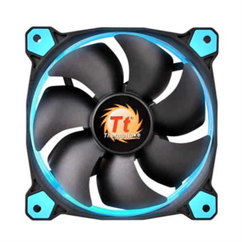 Thermaltake曜越  Riing 12公分LED高風壓水冷排風扇(藍)