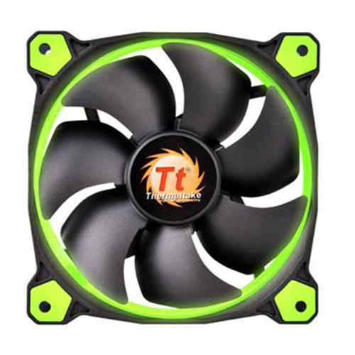 Thermaltake曜越 Riing 12公分 LED高風壓水冷排風扇 (綠)