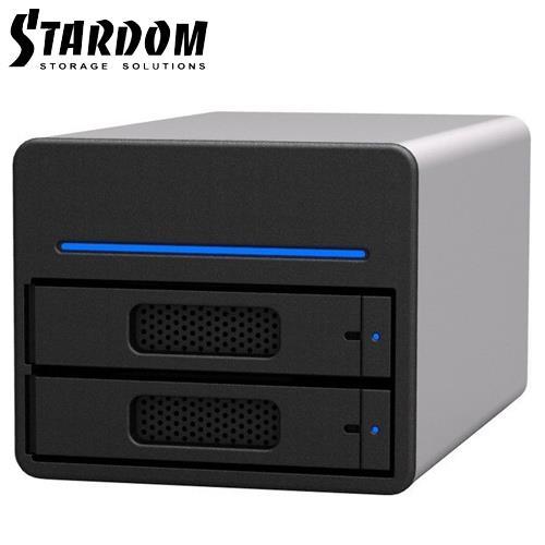 STARDOM 3.5吋/2.5吋USB3.0/eSATA /2bay磁碟陣列設備-ST2-SB3