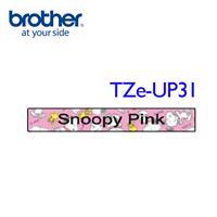 BROTHER TZe-UP31 SNOOPY護貝標籤帶粉紅