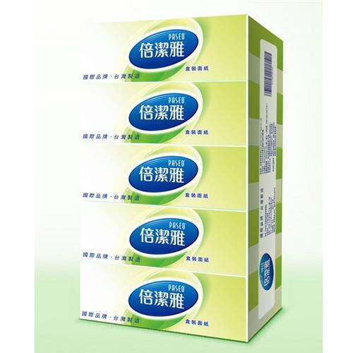 【量販組】倍潔雅 盒裝面紙 160抽x50盒/箱