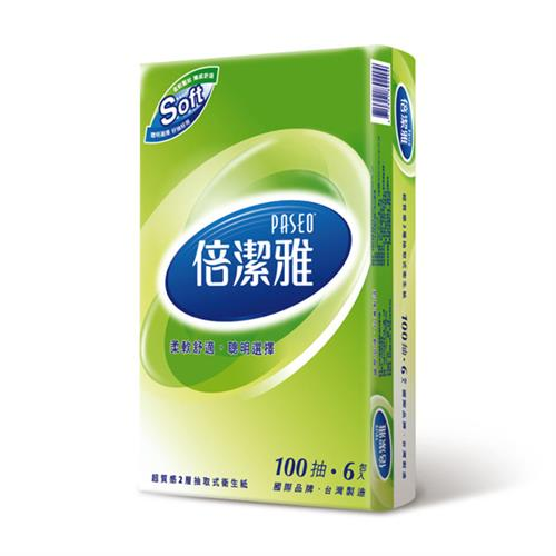 【量販組】倍潔雅 超質感抽取式衛生紙 100抽x72包/箱