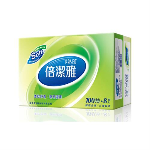 【量販組】倍潔雅 超質感抽取式衛生紙 100抽x80包/箱