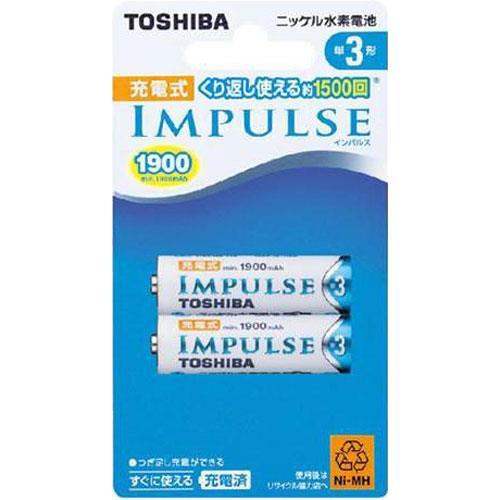 TOSHIBA東芝 3號1900mah充電電池 2入
