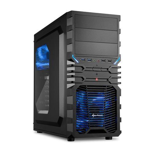 Sharkoon旋剛 狂風者 ATX (3)大(7)小 電腦機殼(藍光)