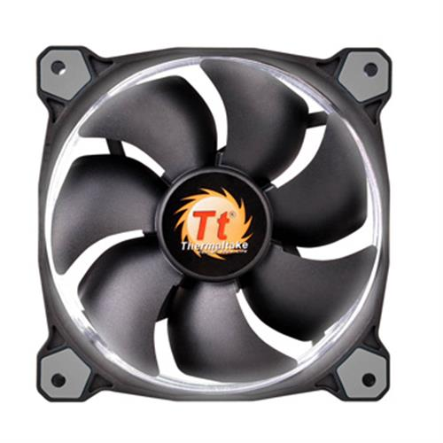 Thermaltake曜越 Riing 12公分LED高風壓水冷排風扇(白)