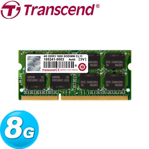 Transcend創見 DDR3-1600 8GB 筆記型記憶體