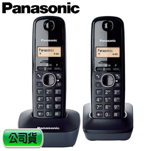Panasonic 國際牌 數位雙手機無線電話 KX-TG1612TW 黑