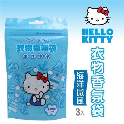 Hello Kitty 衣物香氛袋 (海洋微風) (10gX3入)X6袋