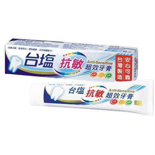 台鹽 抗敏超效牙膏140gX6支