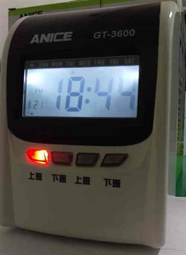 ★送10人份卡架和100張卡片★ANICE GT-3600 微電腦打卡鐘(可停電打卡)
