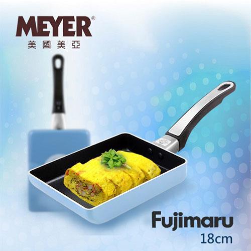 【MEYER】美國美亞Fujimaru藍珊瑚單柄玉子燒不沾平底鍋18CM(無蓋)