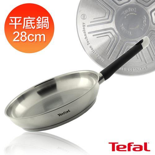 【Tefal法國特福】藍帶不鏽鋼系列28CM平底鍋