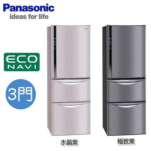 Panasonic 國際牌NR-C477HVK(極致黑) NRC477HVK 變頻三門冰箱【周末破盤價