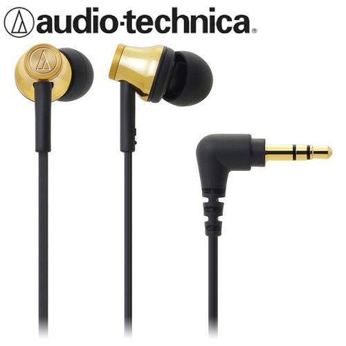 audio-technica 鐵三角 ATH-CK330M 耳塞式耳機 金色