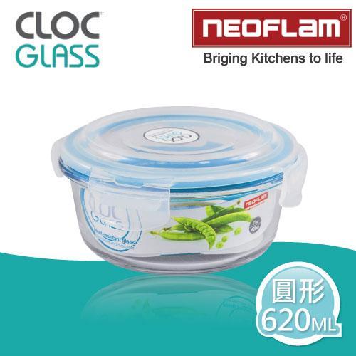 【韓國NEOFLAM】耐熱微波烤箱玻璃保鮮盒-620ML(圓形)