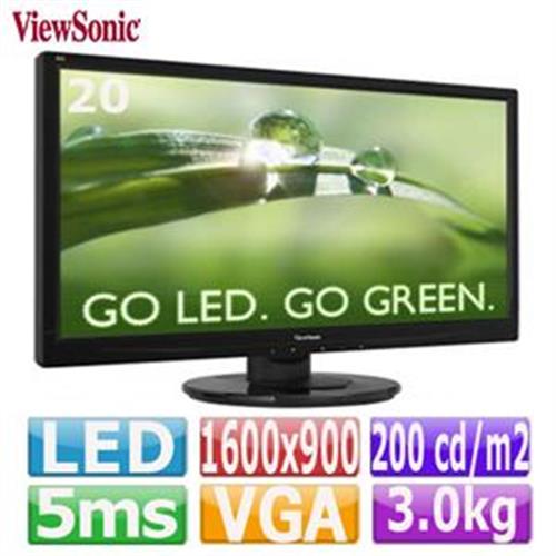 R1【福利品】ViewSonic 優派 20型螢幕  VA2046a-LED