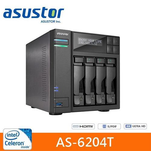 【網購獨享優惠】ASUSTOR 華芸 AS-6204T 4Bay 網路儲存伺服器
