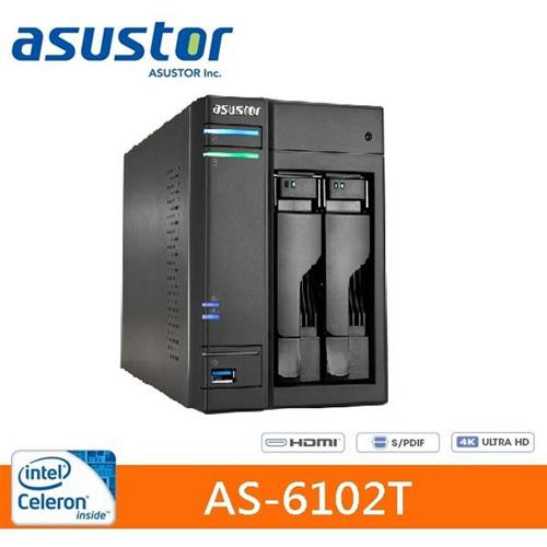 【網購獨享優惠】ASUSTOR華芸 AS-6102T 2Bay 網路儲存伺服器
