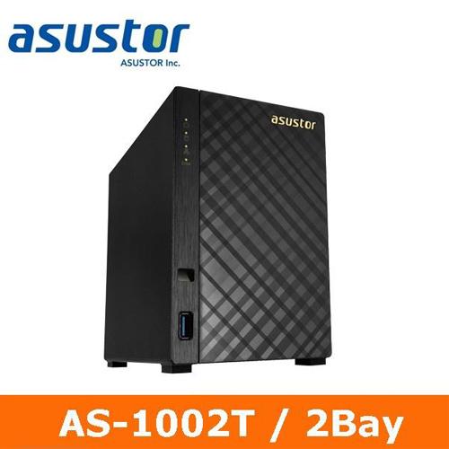 【網購獨享優惠】ASUSTOR華芸 AS-1002T 2Bay 網路儲存伺服器
