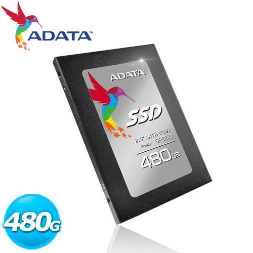 【網購獨享優惠】ADATA 威剛 SP550 480GB 2.5吋 SATA3 SSD固態硬碟