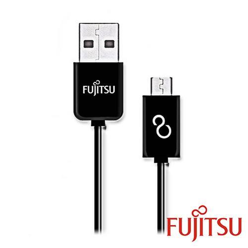 富士通 UM110-1 黑色MICRO USB傳輸充電線15cm(直線)