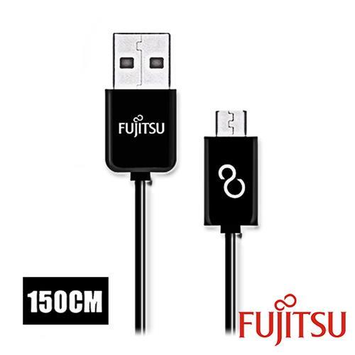 富士通 UM110-3 黑色MICRO USB傳輸充電線1.5M(直線)