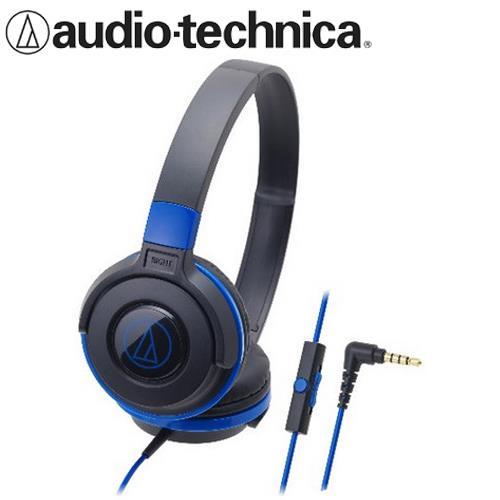 audio-technica 鐵三角 ATH-S100iS 可摺疊耳罩耳機 黑藍