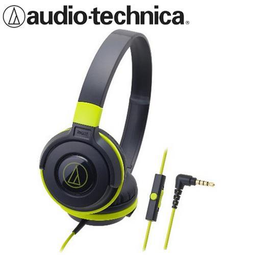 audio-technica 鐵三角 ATH-S100iS 可摺疊耳罩耳機 黑綠