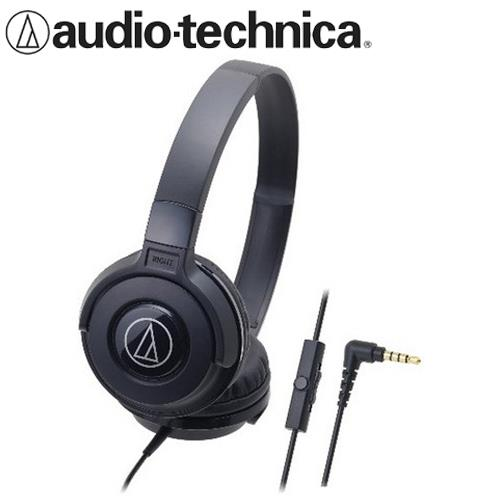 audio-technica 鐵三角 ATH-S100iS 可摺疊耳罩耳機 黑