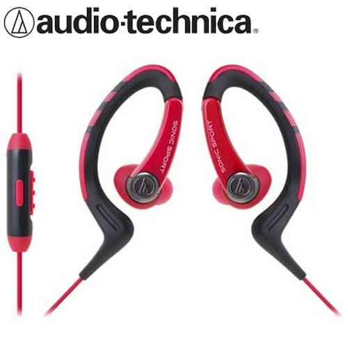 鐵三角 ATH-SPORT1iS 防水運動智慧手機用耳掛式耳機 紅