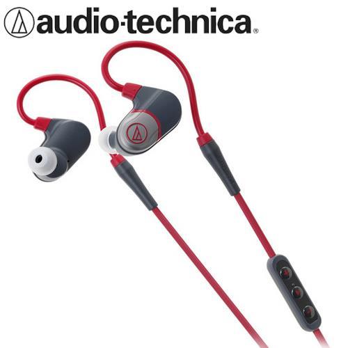 鐵三角 ATH-SPORT4 防水藍牙無線耳機麥克風 紅