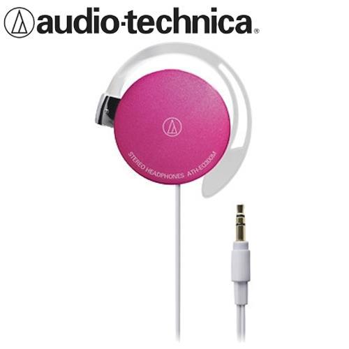 audio-technica鐵三角 ATH-EQ300M 輕量薄型耳掛式耳機 粉