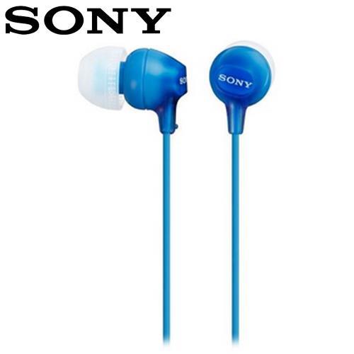 SONY 索尼 EX15LP 輕巧耳道式耳機 藍
