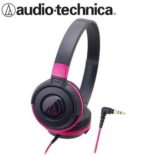 鐵三角 ATH-S100 潮流DJ款 可摺疊耳罩式耳機 黑粉
