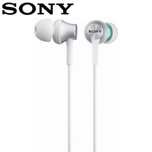 SONY 索尼 EX450 金屬風格密閉耳機 白