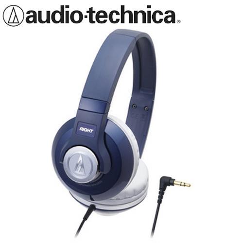 audio-technica 鐵三角 ATH-S500 耳罩式耳機 深藍