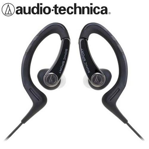 鐵三角 ATH-SPORT1 防水運動型耳掛耳塞式耳機 黑