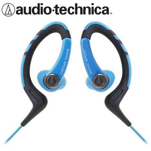 鐵三角 ATH-SPORT1 防水運動型耳掛耳塞式耳機 藍