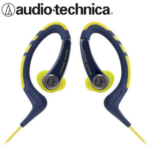 鐵三角 ATH-SPORT1 防水運動型耳掛耳塞式耳機 深藍黃